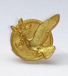 Anstecker Friedenstaube - GOLD
